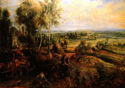 Rubens, Peter Paul: An Autumn Landscape with a View of Het Steen in the Early Morning.  (001211)